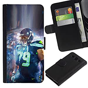 Stuss Case / Funda Carcasa PU de Cuero - 79 de fútbol - Samsung Galaxy S3 III I9300