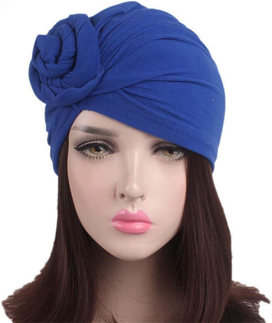 3 paquetes de sombrero de maquillaje con nudos para mujeres turbante africano Ever Fairy con anudado algod/ón
