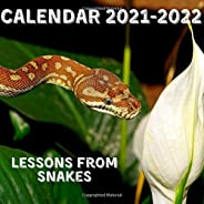 Lessons From Snakes Calendar 2021-2022: April 2021 - June 2022 Square Photo Book Monthly Planner Mini Calendar