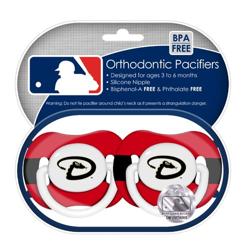 MLB Arizona Diamondbacks Pacifiers 2 Pack