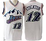 Men's Adult #12 John Stockton Jersey White