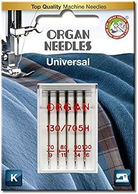 Organ Needles # 70-#100 Combo Universal x 5 Needles