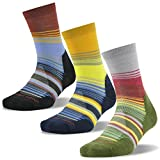 Wool Skiing Socks, ZEALWOOD Merino Wool Backpacking Socks Men Cushion Hiking Socks Gift