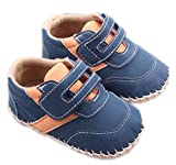 Leather Baby First Walkers Antislip First Walkers navy 3