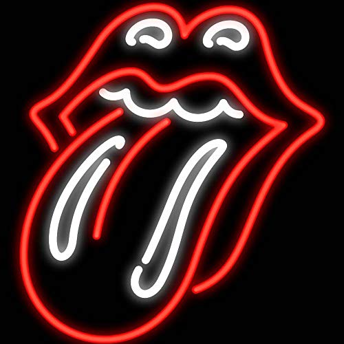 Hot Background LED Neon Sign Lights Red Rolling Stones Tongue Art Wall Decorative Lights Cheap Decor Neon Sign Size 16x14in.
