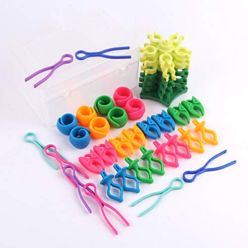 (Arts,Crafts & Sewing, Puyujin 33PC Sewing Thread Bobbin Holder Clamp Clips Column Bobbin Set For Embroidery (Multicolor))