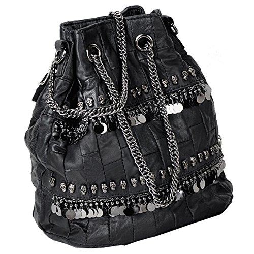 4 Skull Cross Satchel Hand Diamante Women's Body Leather Bag Shoulder W6AgvHnZxz