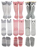 Tiny Captain Baby Girl Knee High Long Socks Non Slip Toddler 8-24 Months Anti Slip Leg Warmer Baby...