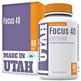 Brain Booster Focus 40 Brain Formula is a Powerful Nootropic and Brain Supplement That Supports Mental Alertness, Memory, Focus, and Concentration - Made in Our Lab in Utah