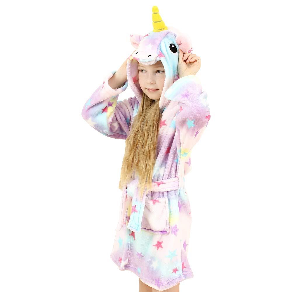 wgde toy Indumenti da Notte con Accappatoio con Cappuccio Unicorno I Migliori Regali di Unicorno