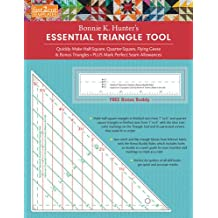 fast2cut Bonnie K. Hunter's Essential Triangle Tool: Quickly Make Half-Square, Quarter-Square, Flying Geese & Bonus Triangles - Plus Mark Perfect Seam Allowances - FREE Bonus Buddy Ruler