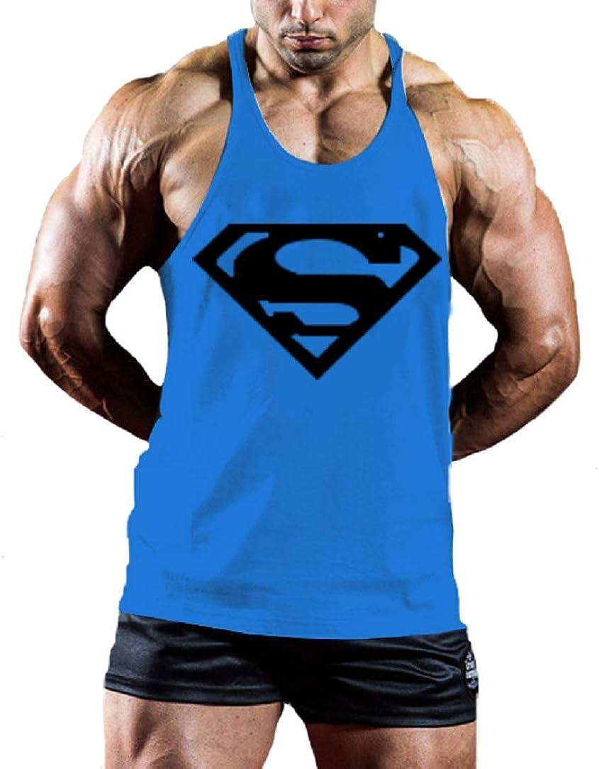 InleaderStyle Mens Bodybuilding S Logo Stringer Gym Tank Top