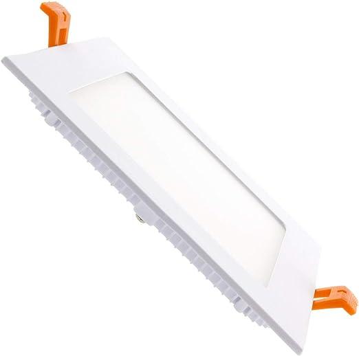 LEDKIA LIGHTING Placa LED 9W Cuadrada SuperSlim Corte 140x140 mm Blanco Frío 6000K - 6500K