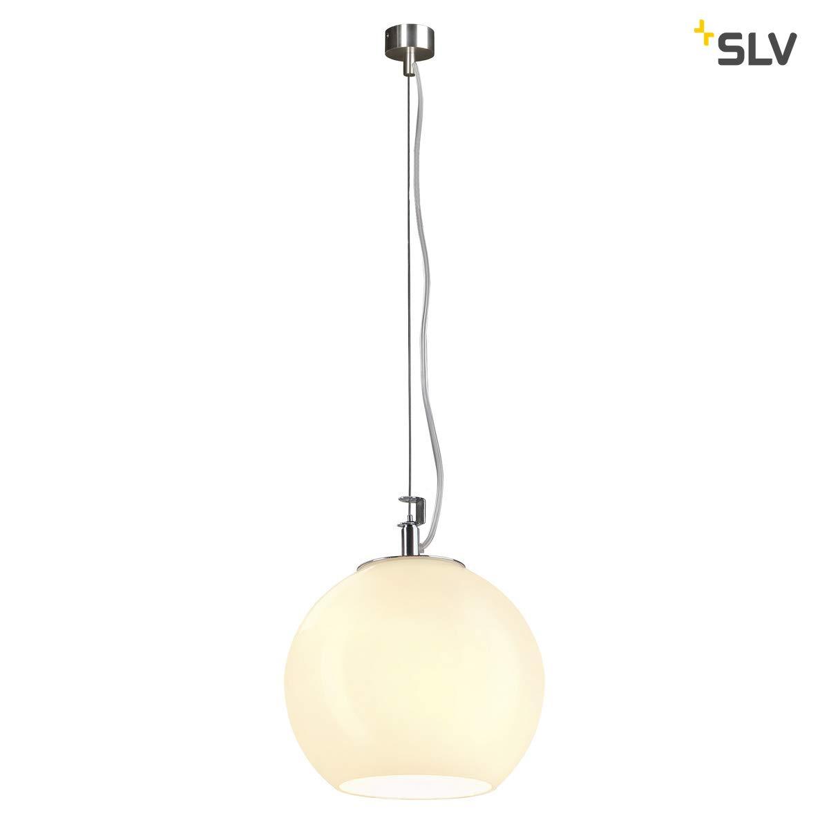 SLV Pendelleuchte Sun   Dimmbare LED Deckenleuchte, Kugelleuchte, Hängelampe für Wohnzimmer, Bar, Esszimmer   Runde Decken-Lampe in exklusivem Kugel-Design (E27 Leuchtmittel, EEK E-A++, Ø19cm)