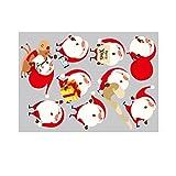 Kofun Window Door Sticker Wall Decor DIY Santa Claus Wall Stickers Vinyl Art Christmas Xmas Home Window Decals Decor DIY Decoration 50x70 cm