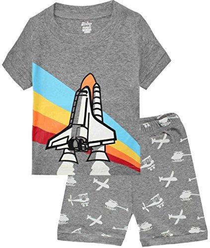 Boys Pajamas Airplane Cotton Kids Clothes Short Sets Size 5Y -