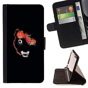 Momo Phone Case / Flip Funda de Cuero Case Cover - RESUMEN DE LOS ANIMALES DE LA CARA OSCURA DEL LOBO - HTC One Mini 2 M8 MINI