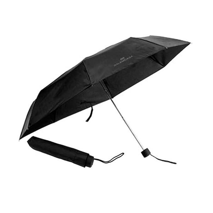 Paraguas plegable colección Balenciaga negro