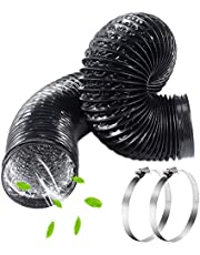 """6""""x16.4ft Air Ducting Hose, FanGoFast Flexible 3-Layer PVC Coating Ventilation Aluminum Pipe w/Clamps for Grow Tent, Dryer Room, Home HVAC System, Inline Fan"""
