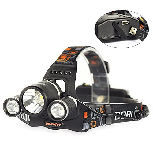 Amazon.com: Recargable 9000LM 3X XM-L2 LED Linterna Frontal Head L¨¢mpara Antorcha Luz Cabeza: Computers & Accessories