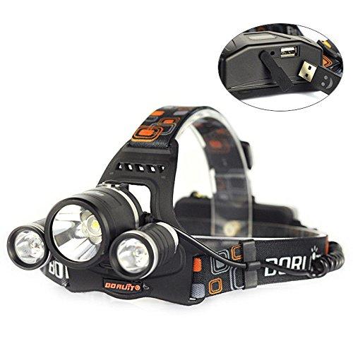 Amazon.com: Recargable 9000LM 3X XM-L2 LED Linterna Frontal Head L¨¢mpara Antorcha Luz Cabeza: Computers & Accessories