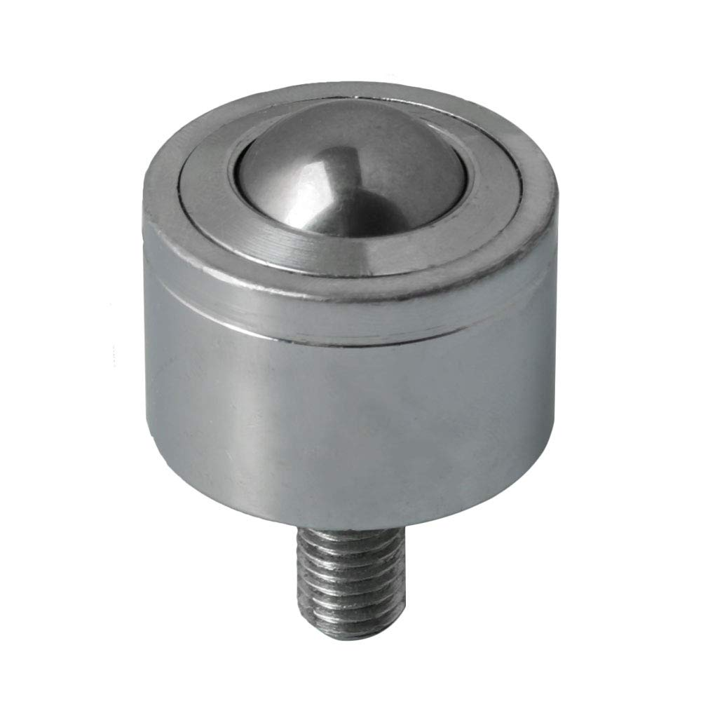 Steel Ball Bearing Unit High Performance Bearing Transmission Silver 200KG Load Capacity M16 Threaded Stud 30mm Ball Dia