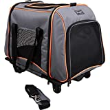 Petsfit 58cm Lx35cm Wx45cm H pet carrier on wheels,soft sided dog carrier for pet up to 22 pounds