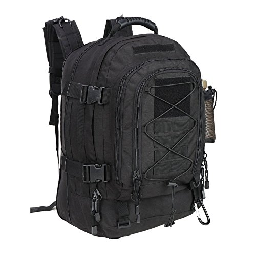 WolfWarriorX Military Tactical Assault Backpack for Men Expandable Travel Backpack Waterproof Outdoor 3-Day Bag,Large,Molle System for School,Hiking,Camping,Trekking,Outdoor Sports,Work