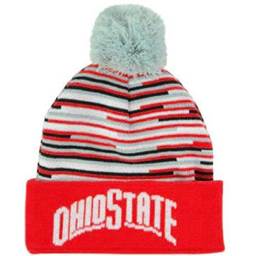 Ohio State Buckeyes J America Knit Hats (One Size, Womens Stripe - Ohio Cap Womens