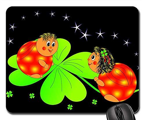 (Mouse Pad - Four Leaf Clover Lucky Charm Talisman)