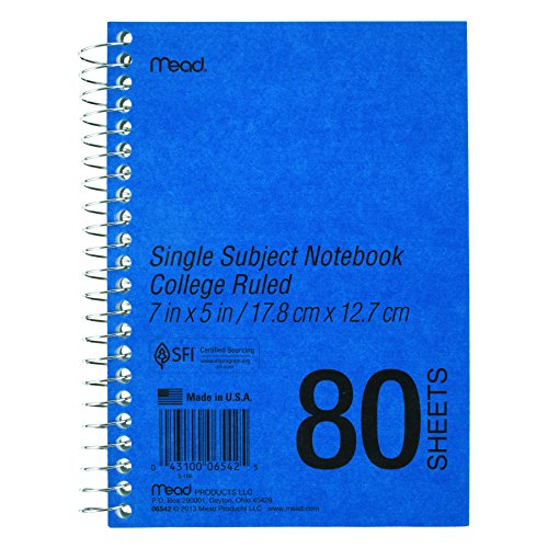 Mead Spiral Bound Single - MEA06542 - Mead Spiral Bound 1 Subject Notebook