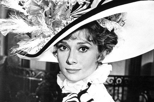 My Fair Lady Audrey Hepburn In Fashionable Hat 24x36 Poster (My Fair Lady Memorabilia)