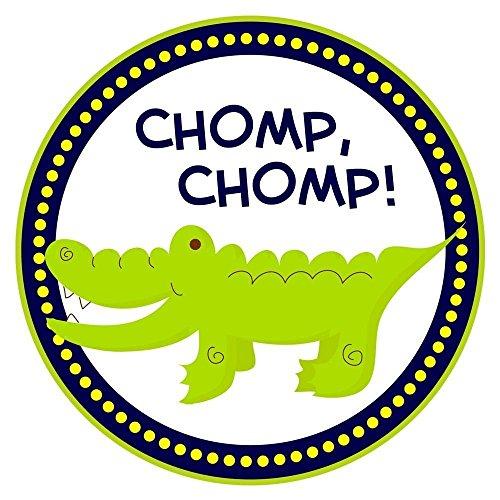 Alligator Sticker Labels - Crocodile Boy Girl Birthday Baby Shower Party Favor Labels - Set of 50 -