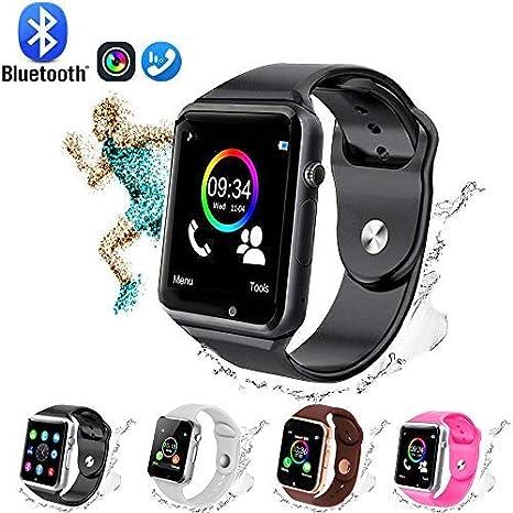 GL Smart Watch,Bluetooth Smart Watch Touch Screen Sport Smart Wrist Watch, Fitness Tracker Camera Pedometer SIM TF Card Slot Compatible Samsung ...