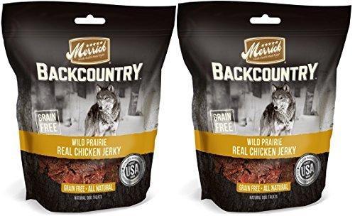 Natural Merrick Real Chicken Dog Jerky Grain Free Treats 2 Bags Made in - Chews Merrick Natural Beef