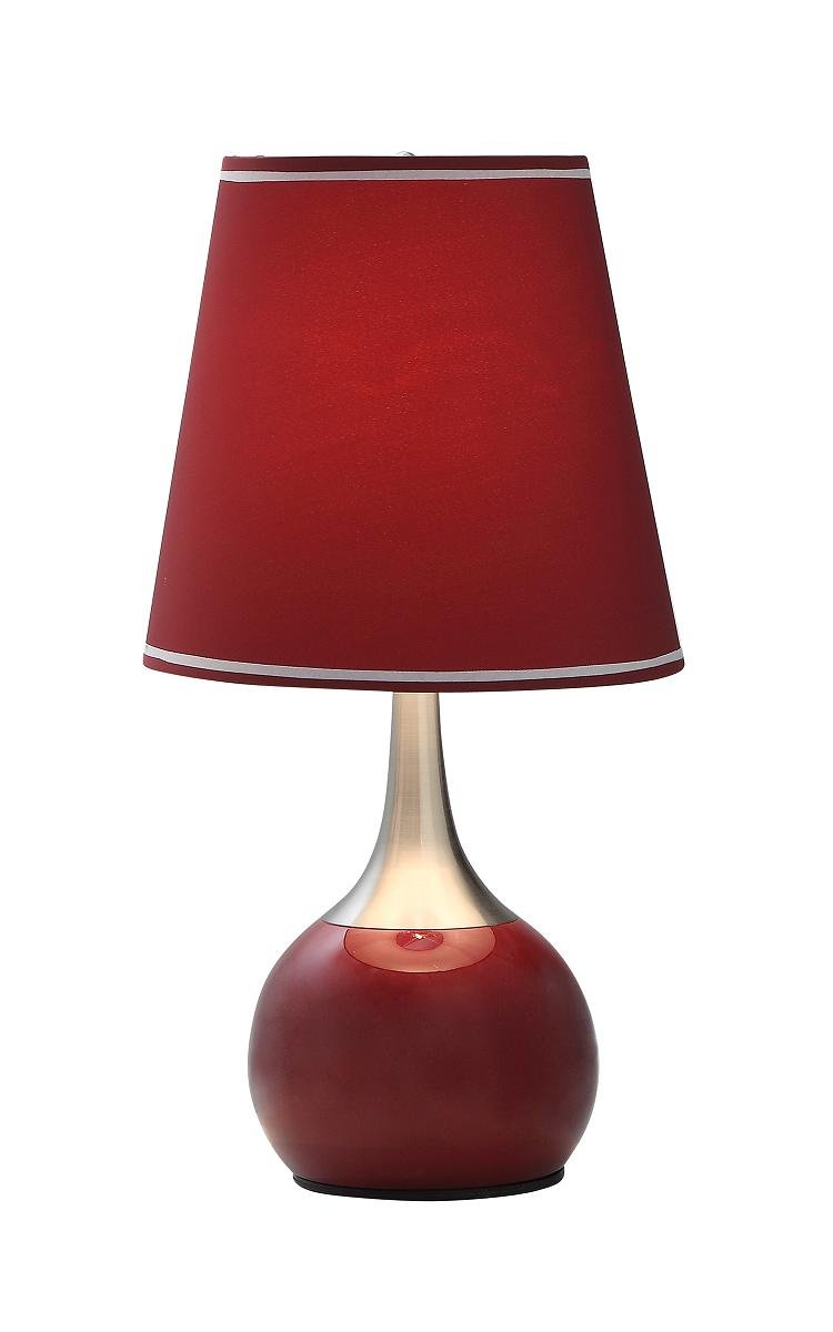 Ore international k 815bd modern red touch lamp 23 inch red ore international k 815bd modern red touch lamp 23 inch red table lamps amazon aloadofball Image collections
