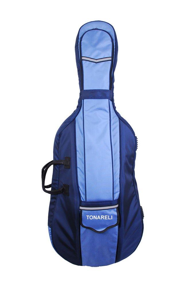 Tonareli Designer Cello Gig Bag - Blue Two-toned - 4/4 Ton-6251