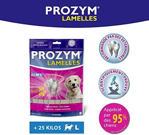 Prozym 15 Lamelles pour Chiens - Soin Dentaire à mâcher - N°1 chez Les vétérinaires - Haleine fraîche - Anti-tartre - Anti-Plaque - Gencives saines (L)