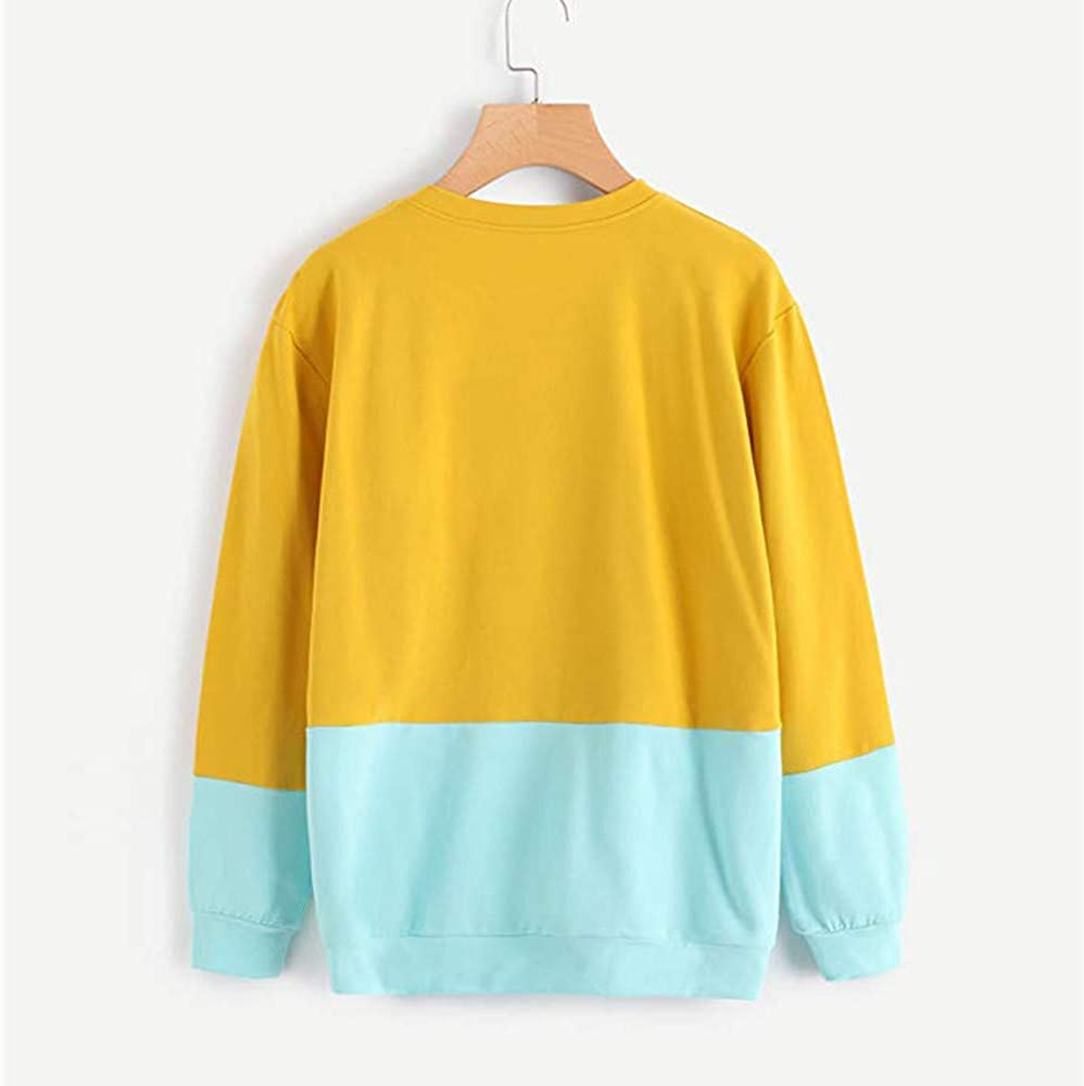 Long Sleeve Sweatshirt for Women Casual Cat Print Tops Hooded Pullover Blouse