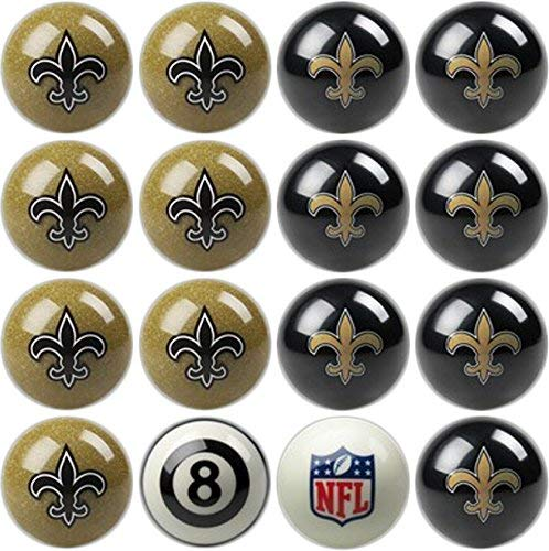 Imperial Officially Licensed NFL Home vs. Away Team Billiard/Pool Balls, Complete 16 Ball Set, New Orleans (Renewed) (New Orleans Saints Billiard Ball)