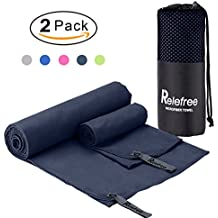 """2PCS Microfiber Towel, 60""""X30"""" Travel Sports Gym Towel, Quick Drying, Lightweight, Ultra Absorbent, Compact for Fitness, Camping, Swimming, Backpacking, Beach, Yoga, Pilates, Bath, Car,Shower"""