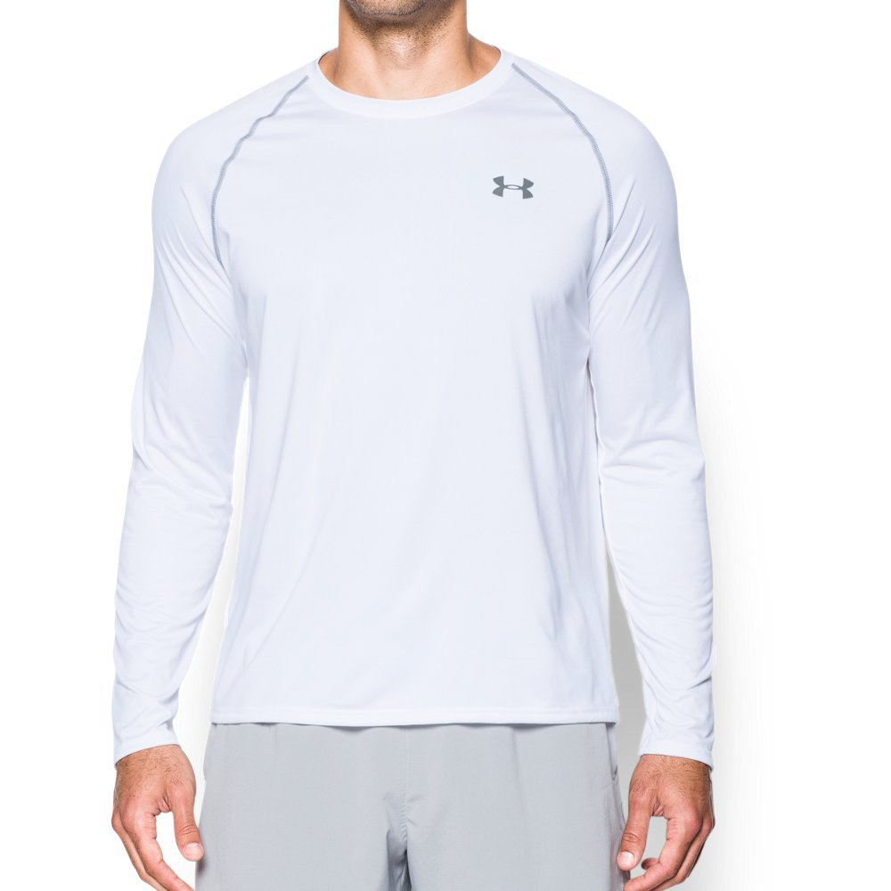 Under Armour Men's Tech Long Sleeve T-Shirt, White (100)/Steel, XXX-Large by Under Armour