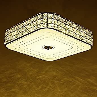 LIYJG Moderno minimalista Rectangular LED Lámpara de techo ...