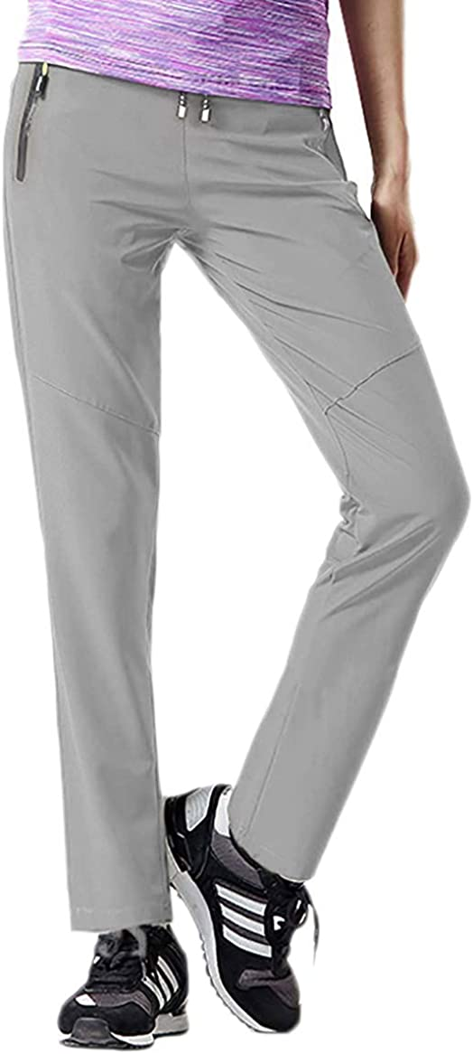 Arisonho Women's Hiking Pants Outdoor Water-Resistant Quick Drying Mountain Trousers Lightweight Travel Pants with Pockets