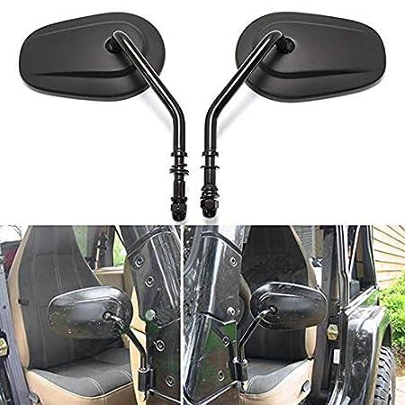 SODIAL Specchietto Retrovisore Laterale per Specchietti Retrovisori per JK JKU JL 1987-2019 per Harley XL 883 1200 Nero