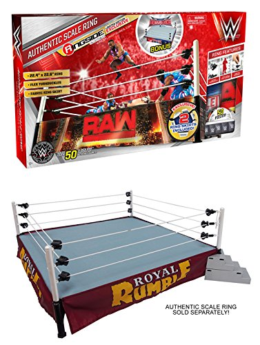 PACKAGE DEAL 2016 Authentic Scale Ring & Royal Rumble Ring Skirt Ringside Exclusive Playset & Accessory (Rumble Ring)
