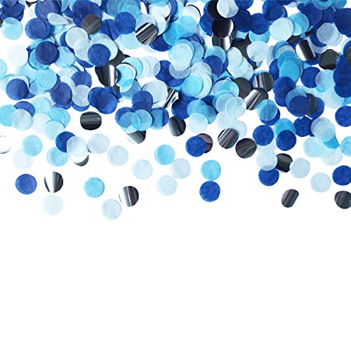 Table Confetti 30g Dots Confetti 1 INCH Tissue Paper Round Party Confetti for Bachelor Graduation Party or Filling Balloons (Blue Set)
