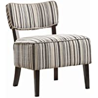 Homelegance 1191F1S Armless Lounge Chair, Stripe Print