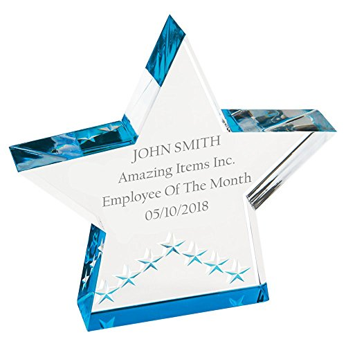 Amazing Items Personalized Winner Award for Work and School Achievement or Graduation Plaque (Star, Blue) ()