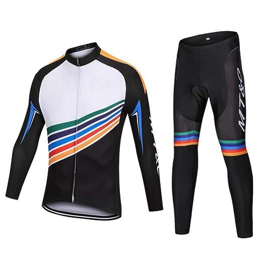 AQWWHY Primavera otoño Hombres Ciclismo Ropa deportiva Ropa de ...